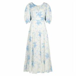 LoveShackFancy Lenny Floral-print Cotton Maxi Dress