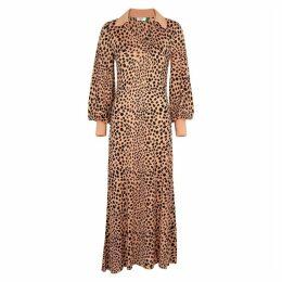 RIXO Leopard-print Jersey Maxi Dress