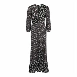 RIXO Chelsea Floral-print Silk Maxi Dress
