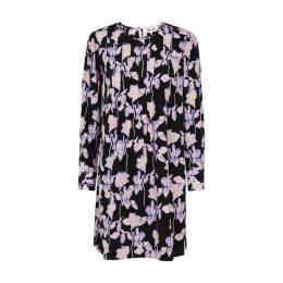 Diane Von Furstenberg Joyce Floral-print Silk Mini Dress