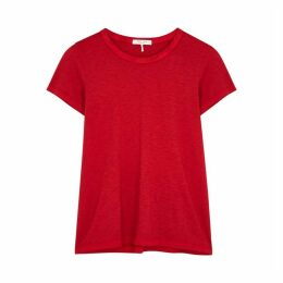Rag & Bone The Tee Red Pima Cotton T-shirt