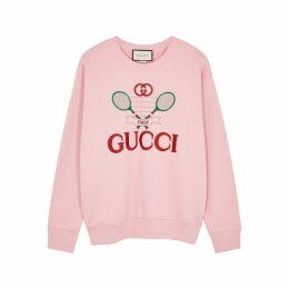 Gucci Pink Embroidered Cotton Sweatshirt