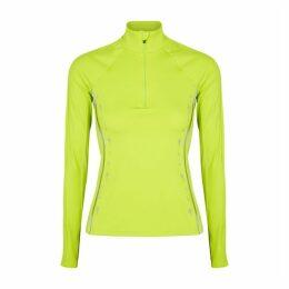 Reebok X Victoria Beckham Neon Yellow Stretch-jersey Top