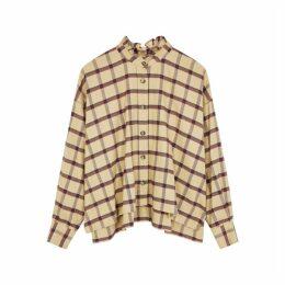 Isabel Marant Étoile Ilaria Camel Checked Brushed Cotton Shirt