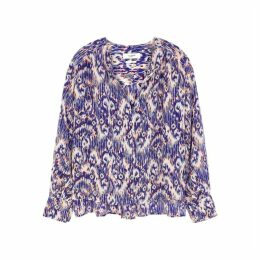 Isabel Marant Étoile Blue Printed Silk Blouse