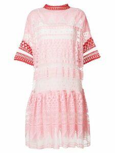 Philosophy Di Lorenzo Serafini embroidered mesh dress - Pink