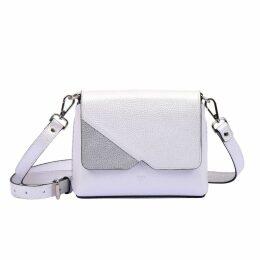 Hiva Atelier - Mini Mare Leather Bag Metallic White & Silver