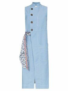Chloé scarf-tied denim waistcoat - Blue
