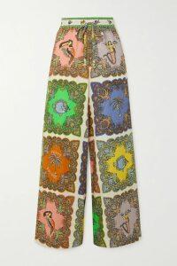 Stella McCartney - Tiered Polka-dot Cotton And Silk-blend Voile Maxi Dress - Black