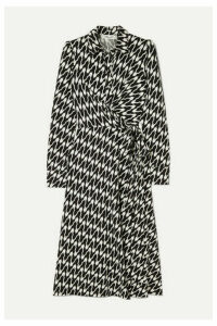 Diane von Furstenberg - Sana Printed Jersey Wrap Dress - Black