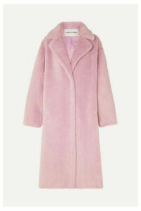 Stand Studios - Maria Cocoon Oversized Faux Shearling Coat - Lilac