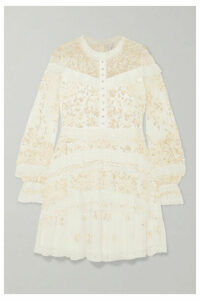 Needle & Thread - Ava Lace-trimmed Embellished Tulle Mini Dress - White