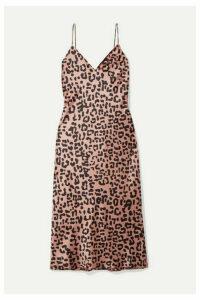 Cami NYC - The Raven Leopard-print Silk-charmeuse Dress - Blush