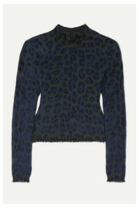 Unravel Project - Leopard-intarsia Brushed Wool-blend Sweater - Leopard print