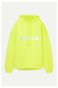 we11done - Oversized Printed Cotton-jersey Hoodie - Chartreuse