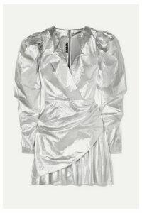 ROTATE Birger Christensen - Lamé Mini Dress - Silver
