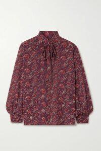 Erdem - Kelly Floral-print Ribbed Stretch-cotton Turtleneck Top - Black