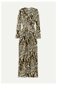 Alexandre Vauthier - Crystal-embellished Animal-print Stretch-silk Satin Gown - Leopard print