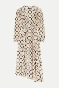 Isabel Marant - Blaine Asymmetric Printed Stretch-silk Crepe De Chine Maxi Dress - Ecru