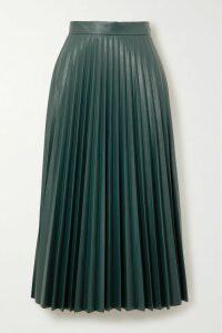 Diane von Furstenberg - Debra Printed Silk-crepon Midi Skirt - Black