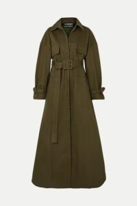 Jacquemus - Thika Cotton-twill Trench Coat - Army green