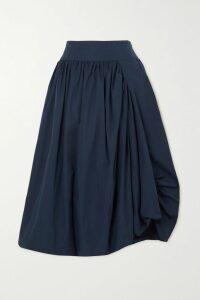 Erdem - Guidita Ruffled Floral-print Silk-chiffon Midi Dress - Blue