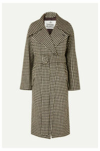 Vivienne Westwood - Wilma Belted Gingham Wool Coat - Black