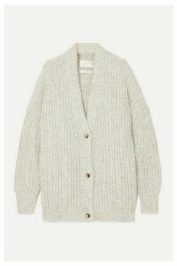 Lauren Manoogian - Grandma Alpaca And Organic Cotton-blend Cardigan - Gray