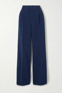 GANNI - Floral-print Crepe Midi Skirt - Blue