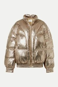Isabel Marant Étoile - Kristen Quilted Metallic Shell Jacket - Brass