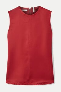 Helmut Lang - Open-back Satin-twill Top - Red