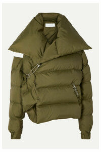 Marques' Almeida - Oversized Asymmetric Quilted Shell Down Jacket - Green