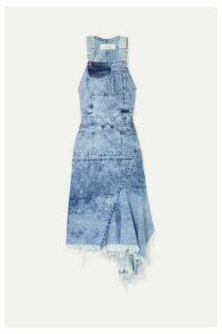 Marques' Almeida - Asymmetric Cutout Denim Midi Dress - Light denim