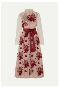 REDValentino - Embroidered Point D'esprit Tulle Midi Dress - IT44
