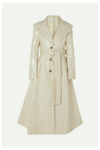 REJINA PYO - Rhea Coated Wool-blend Trench Coat - Ivory