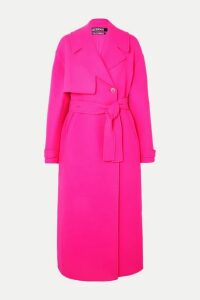 Jacquemus - Sabe Oversized Neon Wool Trench Coat - Pink
