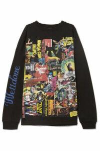 we11done - Movie Printed Cotton-jersey T-shirt - Black