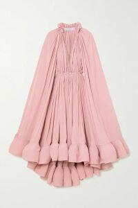 The Vampire's Wife - Falconetti Ruffled Silk-blend Lamé Dress - Silver