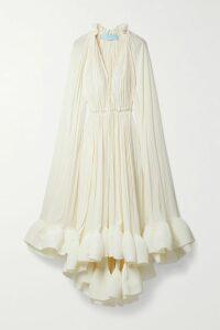 Galvan - Satin Gown - Mustard