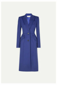 Alexander McQueen - Wool And Cashmere-blend Felt Coat - Blue