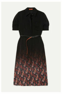 Altuzarra - Kieran Belted Printed Silk Crepe De Chine Dress - Black