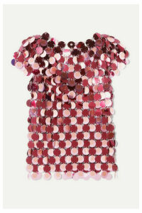 Paco Rabanne - Paillette-embellished Chainmail Top - Pink