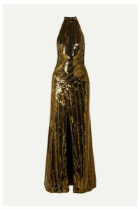 Galvan - Cutout Sequined Tulle Gown - Gold