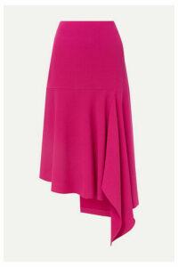 Balenciaga - Asymmetric Wool-blend Midi Skirt - Fuchsia