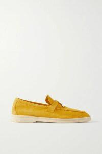 Oscar de la Renta - Draped Printed Silk-chiffon Midi Dress - Ecru