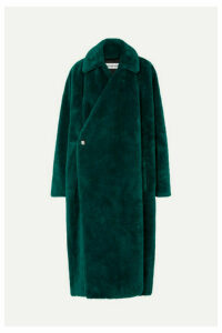 Balenciaga - Oversized Faux Fur Coat - Dark green