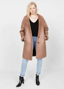 Faux-fur lining coat