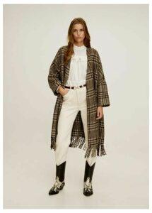 Unstructured fringed coat