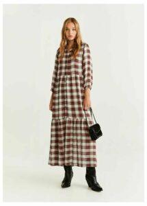 Check long dress