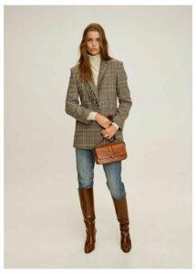 Fringed wool blazer